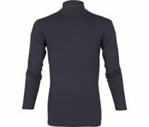Milton Rollkragen Longsleeve Shirt Navy
