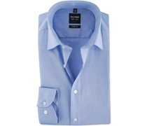 Level Five Hemd Blau Body Fit