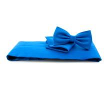 Set Kummerbund, Fliege und Einstecktuch Royalblau