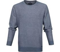 Pullover O-Halsausschnitt Blau