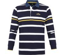 (NZA) Langarm Poloshirt Minor Blau