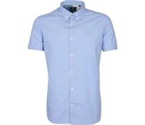(NZA) Hemd Short Sleeve Rere Hellblau