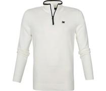 Zip Pullover Weiß