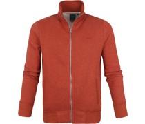 Classic Zip Sweater Rot