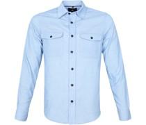 Corduroy Overshirt Hellblau