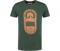 T-Shirt Tropics Placed Dunkelgrün