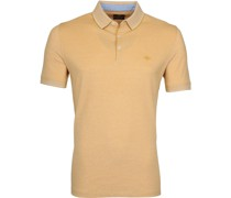 Melange Poloshirt Gelb
