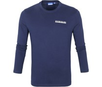Longsleeve T-Shirt Dunkelblau Surf