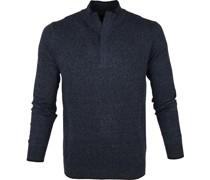 Yumm Half Zip Pullover Blau