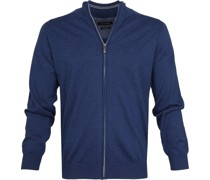 Zip Cardigan Blau