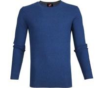 Baumwolle Pullover Hong R-neck Blau