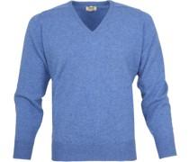 Pullover V Clyde Blau