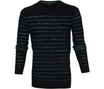 Sweater Streifen Schwarz