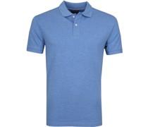 Short Sleeve Poloshirt Blau