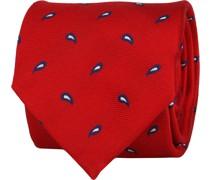 Krawatte Twill Paisley Rot