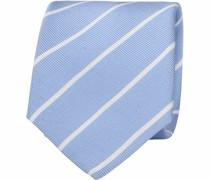 Krawatte Twill Streifen Hellblau