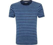 T-Shirt Streifen Blau