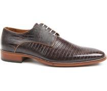 Leder Schuh Matrix Dunkelbraun