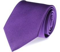 Krawatte Lila Seide Uni F30