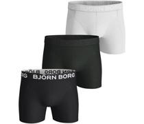 Björn Borg Shorts 3er-Pack Solid Multicolour