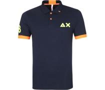 Polo Shirt Logo Fluo Navy