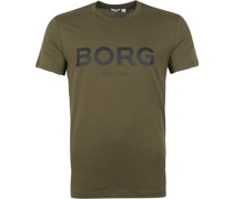 Björn Borg Sportswear Logo T-Shirt Dunkelgrün