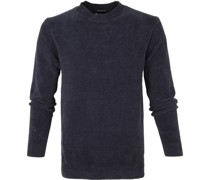 Rundhals Sweater Dunkelblau
