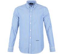 Hemd Oxford Gestreift Blau