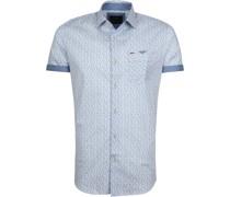 Hemd Design Blau