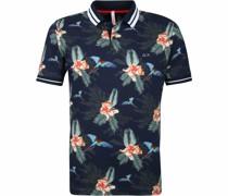 Poloshirt Marine Drucken