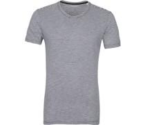 Knowledge Cotton Apparel T-shirt Alder Stripes Navy