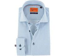 Hemd Blau Weiß Punkt