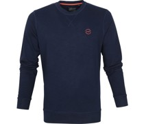 Sweater R-Neck Logo Dunkelblau