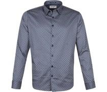 Hemd Muster Blau