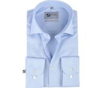 Prestige Hemd Mouline Hellblau