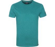 T-Shirt Streifen Grun