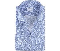 Hemd Blumen Blau