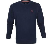 Sweater Rundhals Logo Dunkelblau