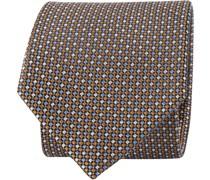 Krawatte Braun Druck