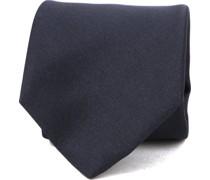 Krawatte Seide Dunkelblau