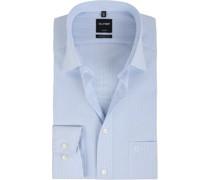Luxor Hemd Modern Fit Hellblau Streifen