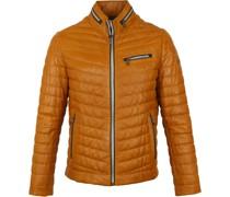 Damiano Leather Ocker Jacke