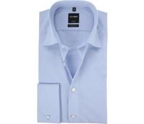 Luxor Hemd Modern Fit Doppelmanschette Blau