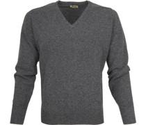 Pullover V Grau