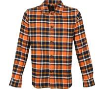Overshirt Karo Orange