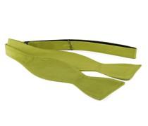 Selbstbinder Fliege Seide Limettengrün F04