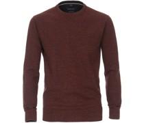 Pullover O-Halsausschnitt Melange Bordeaux