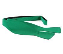 Selbstbinder Fliege Seide Smaragdgrün F68