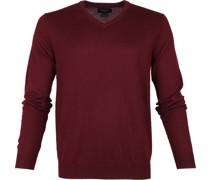 Pullover Merino V-Hals Bordeaux