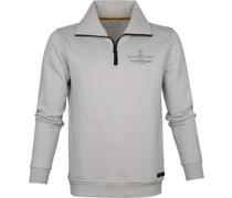 Pullover Half Zip Beige